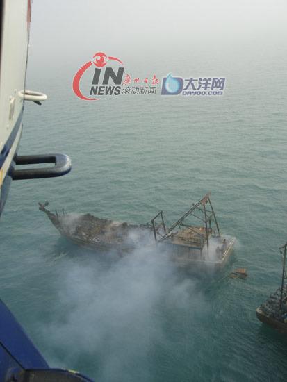 南海第一救助飞行队快速出击,成功在涠洲岛海域将1名严重烧伤的渔民