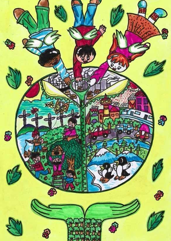 做起》中国儿童环保教育计划暨中国儿童环保绘画大赛获奖作品 肖培
