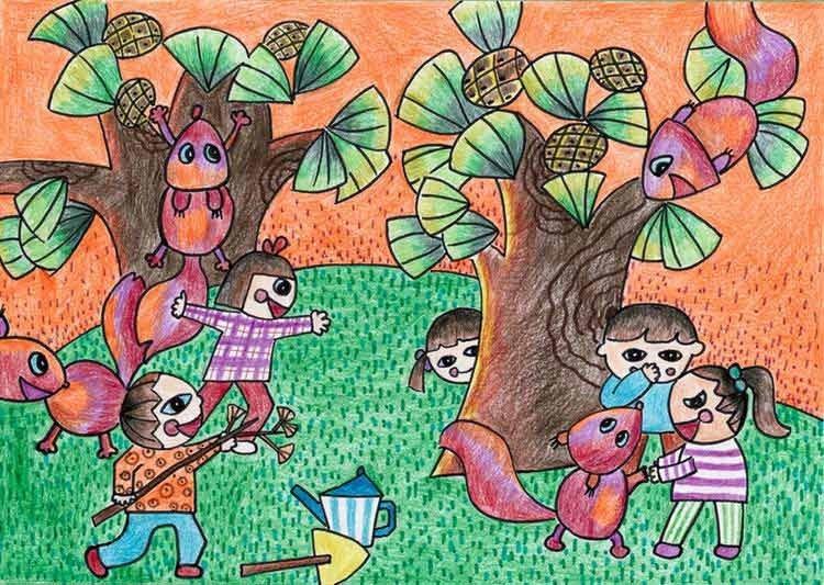 儿童绘画猪简单绘画