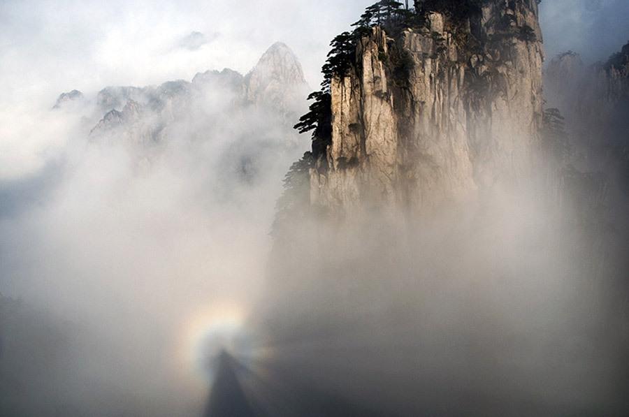 黄山始信峰出现佛光 - 乐园 - 高山流水