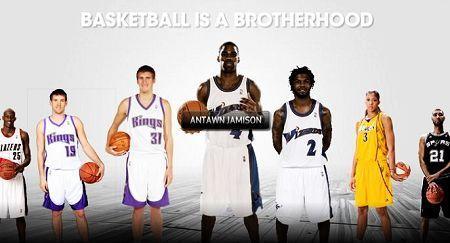 阿迪达斯NBA代言人图片