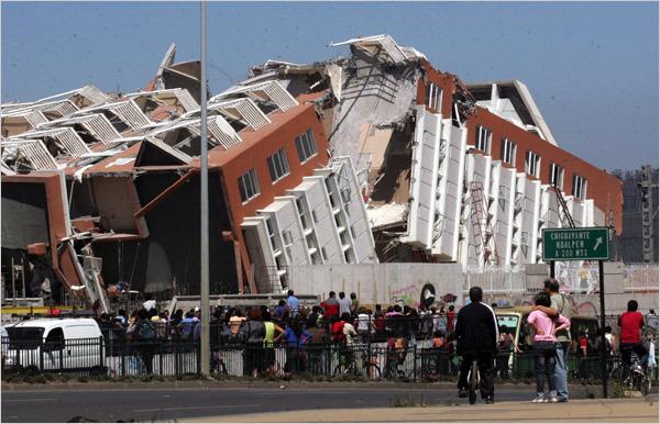 智利第二大城市康塞普西翁8.8级地震后房屋倒塌