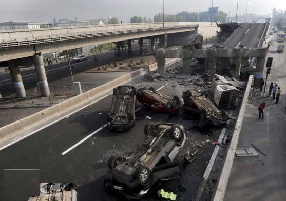 高速公路断裂