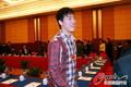 政协散会刘翔遭围堵 与记者赛跑竟落下风(图)
