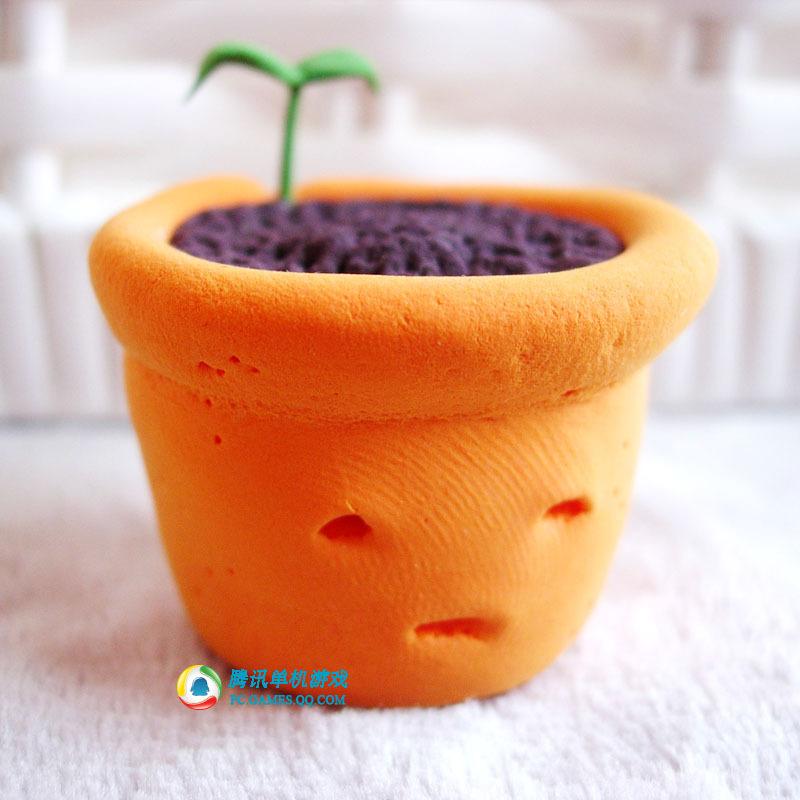 超轻粘土做花盆步骤