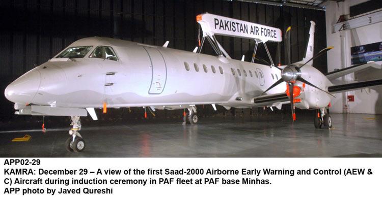 巴基斯坦接收首架瑞典saab 2000预警机 高清图片