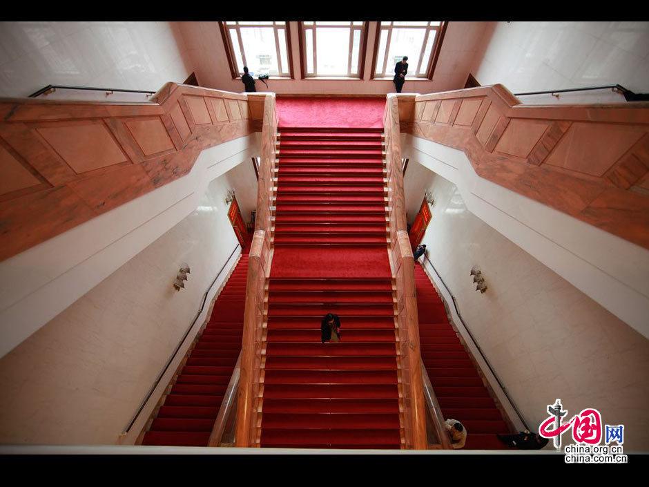 3月8日,人民大会堂内景。中国网 胡迪摄影