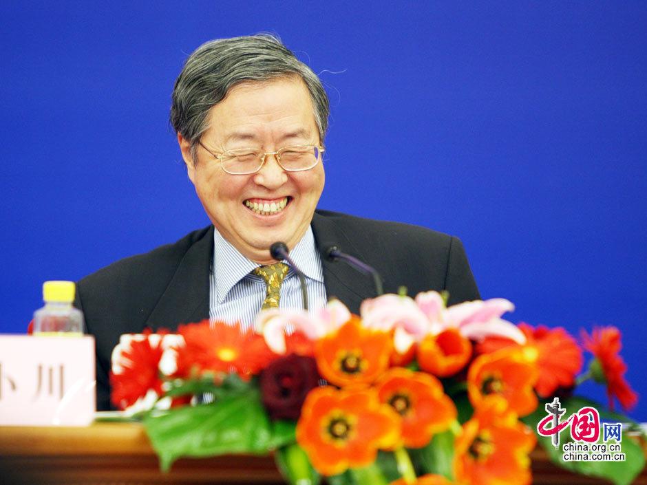 中国人民银行行长周小川。 (胡迪摄)