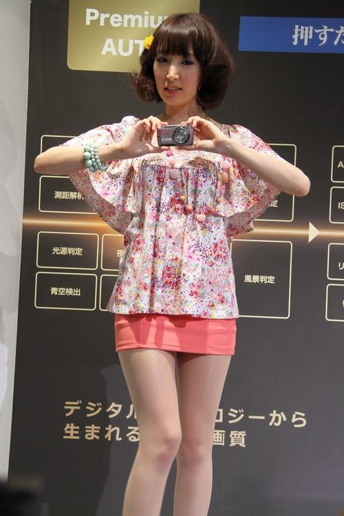 小巧可爱 CP+卡西欧展台短裙美女秀 数码