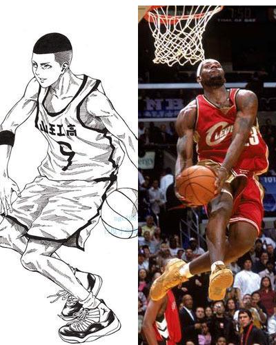 灌篮高手VS球星 谁是NBA流川枫图片