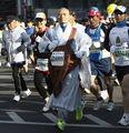 韩国和尚参赛马拉松