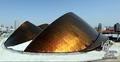 组图:阿联酋馆基本建成 传奇沙丘亮相世博园
