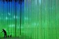 高清:世博中国馆内部展区进行调试 灯光璀璨