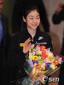 组图:金妍儿回到韩国 坦言赛季结束心情不错