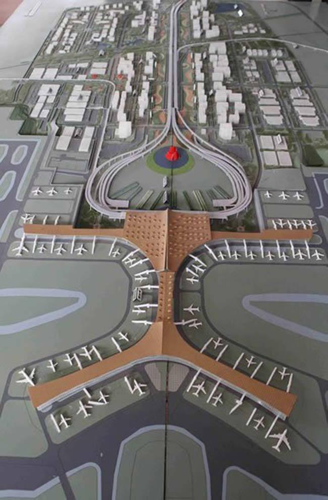 新机场建设规划示意图