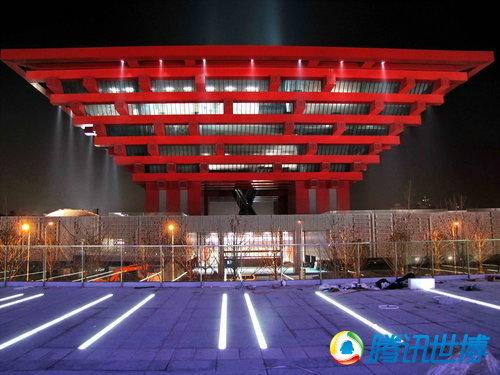 图片 > 正文  2010年3月25日,上海世博园区,灯火通明的中国馆.