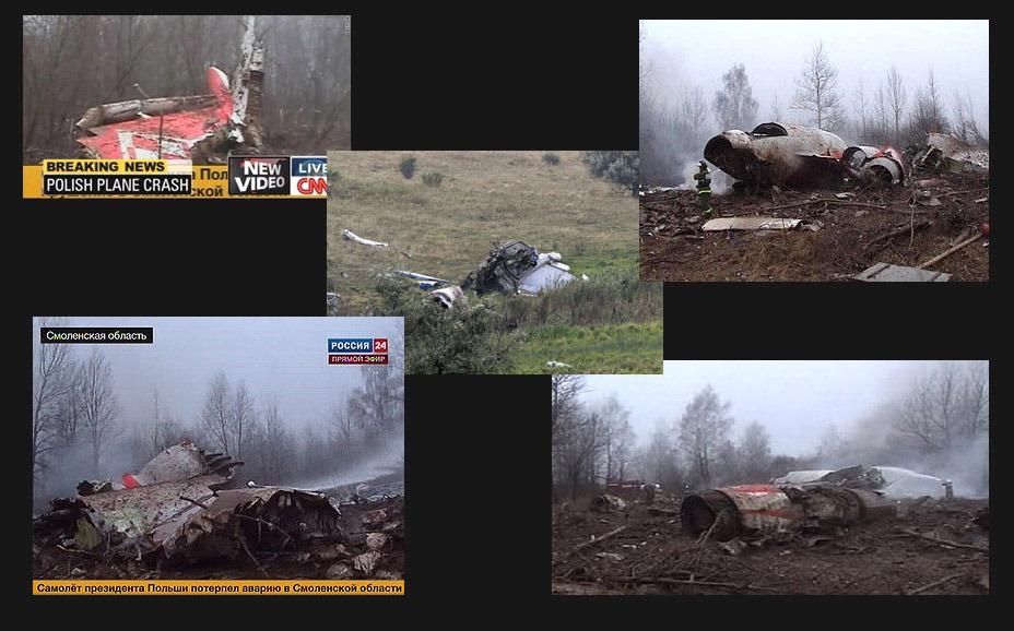 事故现场的机身碎片。