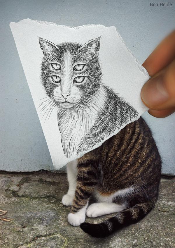"""高清:幽默搞怪 创意十足的""""手绘照片"""""""