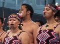 高清:新西兰毛利歌舞团世博园引吭高歌