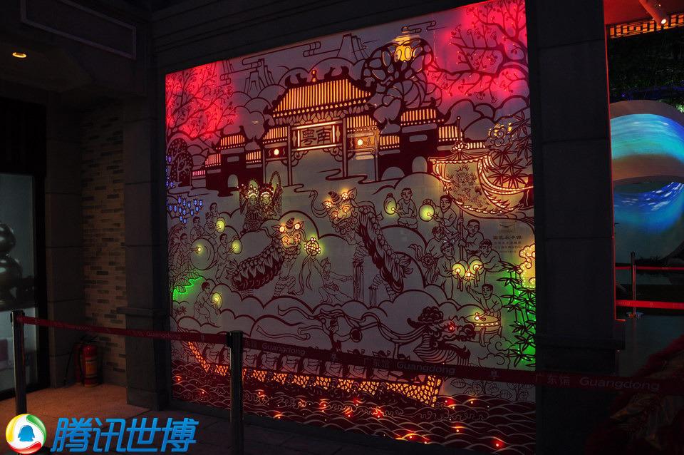 广东馆的室内设计很有岭南风范