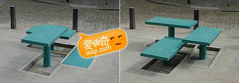 pop-up升降式公共座椅图片
