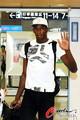 组图:博尔特抵沪 牙买加飞人提前备战钻石赛
