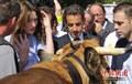 高清:法国装扮香榭丽舍 萨科齐体验农家乐