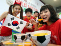 韩美女啦啦队秀足球碗