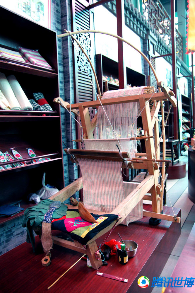 晋南土布的织布机