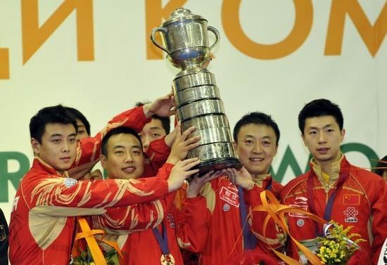 世乒赛男团中国3-1德国首夺5连冠 马琳取2分