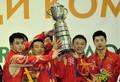 组图:中国男队5连冠 第17次捧起斯韦思林杯