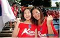 牙套美女为韩国助威