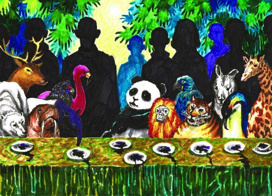 中国儿童环保绘画大赛优秀作品:保护生物多样性