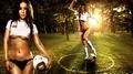 美女宝贝助威世界杯