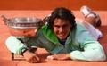 组图:纳达尔成就法网五冠王 庆祝有了新动作