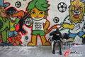 巴西球迷展示涂鸦艺术