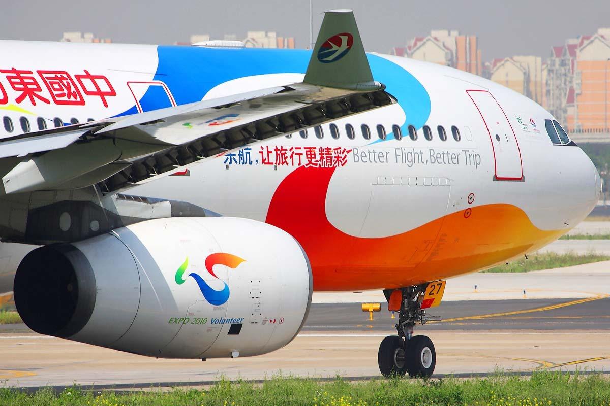 东方航空彩绘世博三号飞机