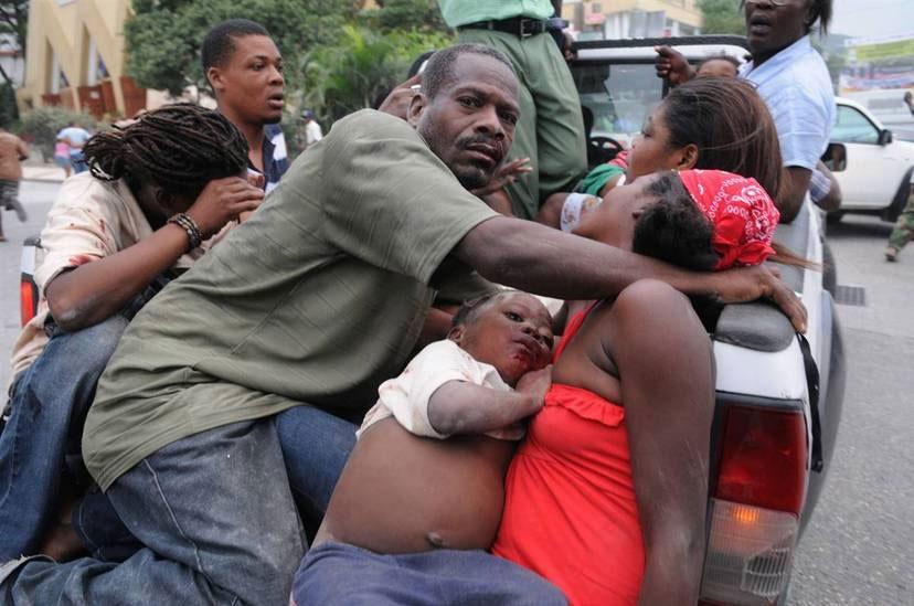 海地太子港地震现场。
