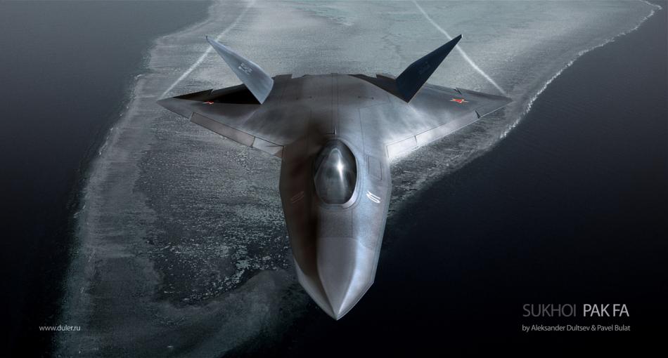 俄空军PAK-FA战机超酷效果图