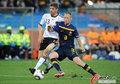 图文:德国VS澳大利亚 穆勒遭遇强悍防守