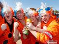 图文:荷兰2-0丹麦 球迷激情助威(254)