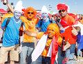 图文:荷兰2-0丹麦 球迷激情助威(255)