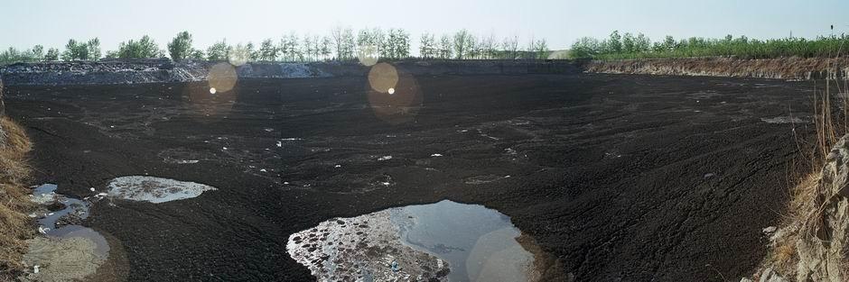 北京市国家环保产业园区(建设中)西侧(图片摄于2009年4月,北纬39°44′09″ 东经116°31′37″)