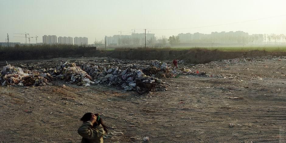 北京市国家环保产业园区(建设中)西侧(图片摄于2010年4月,北纬39°44′09″ 东经116°31′37″)