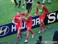 图文:德国VS塞尔维亚 约万诺维奇庆祝进球