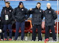 图文:斯洛文尼亚2-2美国 美国教练组