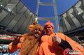 图文:荷兰VS日本 球迷助威比赛(11)