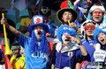 图文:荷兰VS日本 球迷助威比赛(12)