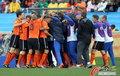 图文:荷兰VS日本 荷兰队欢庆