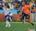 图文:荷兰VS日本 德容十分稳健